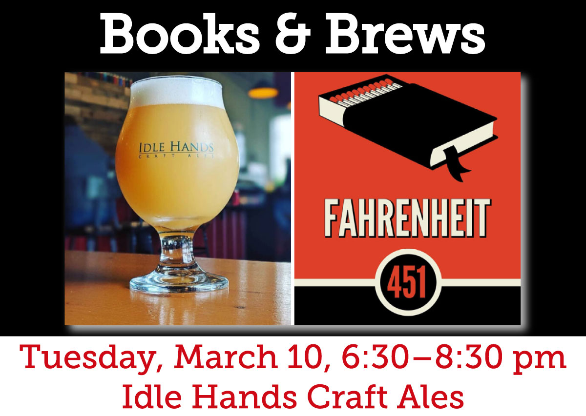 """""""Brews & Books"""" at Idle Hands"""
